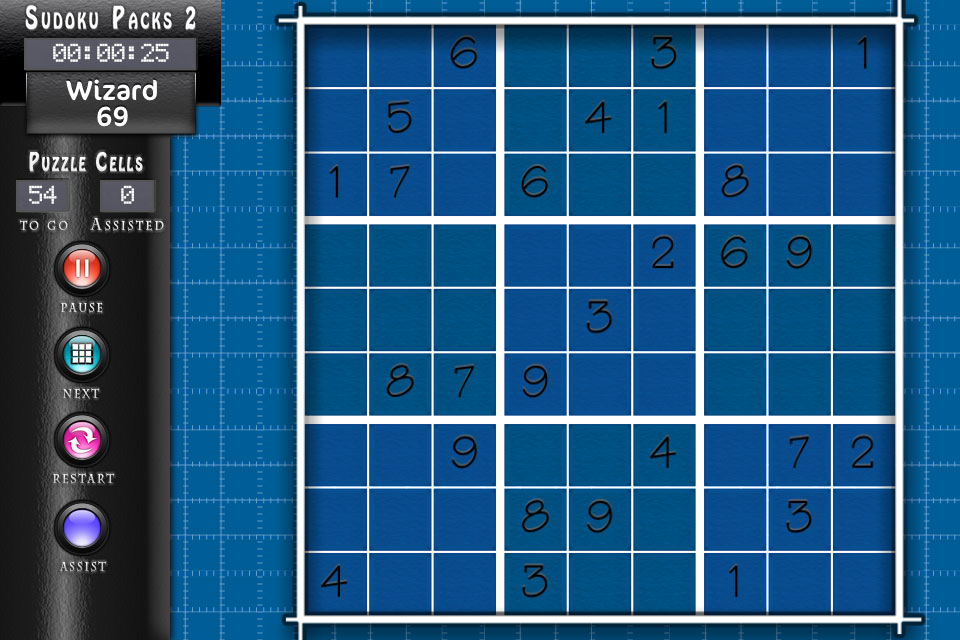 Sudoku HD Blueprint Theme