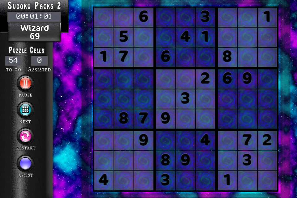 Sudoku HD Clouds Theme